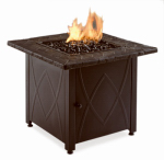 Blue Rhino Global Sourcing GAD1418A Outdoor Fireplace Bowl, LP Gas, 30-In. Square