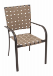 Rio Brands MW34-TS Verona Patio Collection Dining Chair, Metro Weave