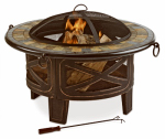 Zhejiang Yayi Metal Technology FTB-51559 Bellefield Slate Fire Pit Table, Black, 34-In.