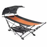 Zenithen Limited OC582SC-TV01 Hammock With Removable Canopy, Gun Metal Gray