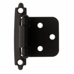 Brainerd Mfg Co/Liberty Hdw H0103AZ-FB-O3 Overlay Hinge, Self-Closing, Flat Black