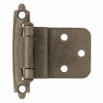 Brainerd Mfg Co/Liberty Hdw H0104AC-AP-O3 Inset Hinge, Self-Closing, Antique Pewter, 3/8-In.