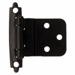 Brainerd Mfg Co/Liberty Hdw H0104AC-FB-O3 Inset Hinge, Self-Closing, Flat Black, 3/8-In.