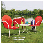 Jack Post BH-920CR Retro Bistro Set, 3-Piece, Red