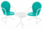 Jack Post BH-920EM Retro Bistro Set, 3-Piece, Emerald