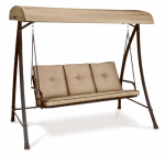 Courtyard Creations 15S6042B 3-Person Cushion Swing, Taupe