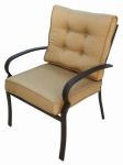 Patio Master AAL07600 Bellevue Cushion Dining Chair, Espresso,  Must Purchase in Quantities of 4