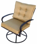 Patio Master AAL07601 Bellevue Cushion Swivel Rocker, Espresso, Must Purchase in Quantities of 2