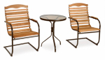 Jack Post CG-910Z High-Back Bistro Set, 3-Piece