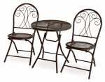 Courtyard Creations FLS775M-B Merida Bistro Set, 3-Piece, Black