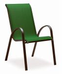 Courtyard Creations KTS666HG Verona Sling Stacking Chair, Green