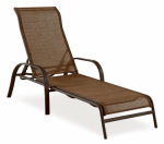 Courtyard Creations KTS126-B Verona Sling Stacking Lounger, Brown