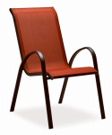 Courtyard Creations KTS666HR Verona Sling Stacking Chair, Red