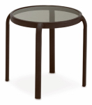 Courtyard Creations TGS15DK-V Verona Glass-Top Stacking End Table, 16-In.