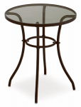 Courtyard Creations TGS23HG Verona Glass-Top Bistro Table, 24-In.
