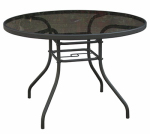 Courtyard Creations TGS42HS Verona Glass-Top Round  Table, 42-In.