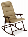 Westfield Outdoor A05-371C-2 Padded Folding Rocker, Brown
