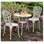 Jack Post EM-200W Empire Bistro Set, 3-Piece, White