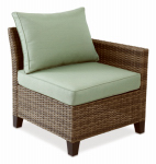 Letright Industrial 710.086.001 Key Largo Left Arm Chair, Aluminum & Wicker