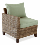 Letright Industrial 710.086.002 Key Largo Right Arm Chair, Aluminum & Wicker