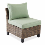 Letright Industrial 710.086.003 Key Largo Armless Chair, Aluminum & Wicker