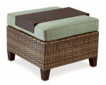 Letright Industrial 710.086.004 Key Largo Ottoman + Tray, Aluminum & Wicker