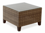 Letright Industrial 710.086.005 Key Largo Coffee Table, Aluminum & Wicker