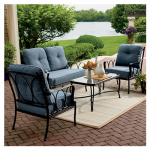 Letright Industrial 714.005.000 Lucia Deep-Seating Set, Steel, Padded, 4-Pc.
