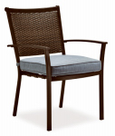 Letright Industrial 720.109.001 Concord Stationary Dining Chair, Wicker Back With Cushion, Must Purchase in Quantities of 4