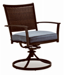 Letright Industrial 720.109.002 Concord Swivel Rocker Dining Chair, Wicker Back With Cushion, Must Purchase in Quantities of 2