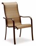 Letright Industrial 721.042.001 Concord Sling Dining Chair, Tan & Brown, Must Be Ordered in Quantities of 4