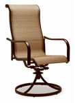 Letright Industrial 721.042.002 Concord Sling Swivel Rocker Dining Chair, Tan & Brown, Must Be Ordered in Quantities of 2