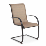 Letright Industrial 721.043.001 Concord Sling C-Spring Dining Chair, Tan & Dark Brown, Must Be Ordered in Quantities of 6