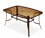 Letright Industrial 721.043.002 Concord Glass-Top Dining Table, 58 x 40-In.