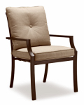 Letright Industrial 724.017.001 Concord Cushioned Dining Chair, Tan & Brown, Must Be Ordered in Quantities of 4