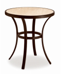 Letright Industrial 741.112.001 Concord Bistro Table, Ceramic Top, 24-In. Diam.