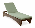 Letright Industrial 750.004.001 Key Largo Chaise Lounge, Aluminum & Wicker