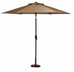 Letright Industrial 820.058.005 Concord Patio Collection Sling Umbrella, Tan & Brown, 9-Ft.