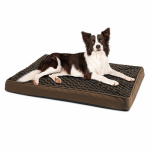 "Hangzhou Tianyuan Pet Prod YF87109S-M Dog Bed, Orthopedic ""Egg-Crate"" Cushion, Brown Fabric, 27 x 36 x3-In."