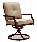 Letright Industrial 724.017.002 Concord Cushioned Swivel Rocker Dining Chair, Tan & Brown, Must Be Ordered in Quantities of 2