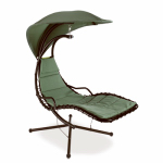 Sunjoy Group Intl Pte S-DNC548PST-A Baily Single-Seat Swing, Sage