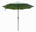 March Products ATAF908117-FD11 Patio Market Umbrella, Aluminum Frame, Terrace Fern Olefin, 9-Ft.