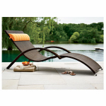Cocam Intl Enterprises HPGF86879 All-Weather Lounger, Brown