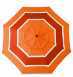 March Products ECO908D709-P202 Patio Market Umbrella, Steel Frame, Orange Stripe Polyester, 9-Ft.