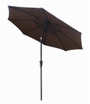 March Products ECO908D709-P32 Patio Market Umbrella, Steel Frame, Brown Polyester, 9-Ft.