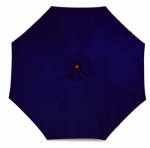 March Products SOW908-P04 Patio Market Umbrella, Pulley Open, Wood & Navy Polyester, 9-Ft.