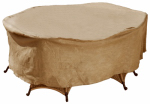 Budge Industries P5A13SFRC-N Oval Rec Table/Chair Combo Cover, Tan, 72-In.