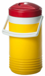 Igloo 41814 Commercial Cooler, Yellow & Red, 1-Gal.