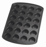 Wilton Industries 2105-6819 Mini Muffin Pan, Non-Stick, 24-Cup