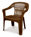Adams Mfg 8248-60-3700 Big Easy Stacking Chair, For Larger Body Types, Resin, Earth Brown
